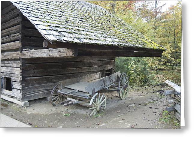 Cable Mill Barn Greeting Card by Michael Peychich