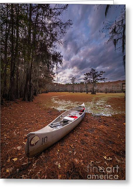Caddo Canoe Greeting Card