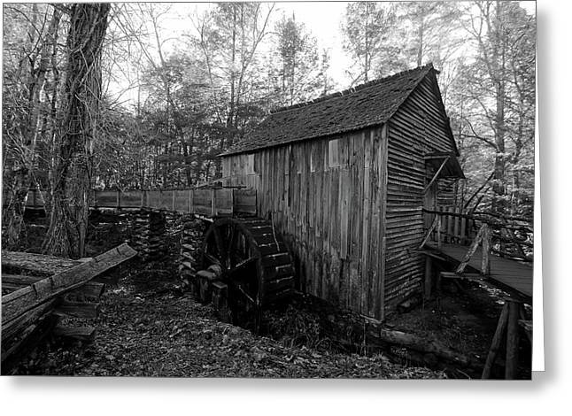 Cades Cove Mill - Tennessee Greeting Card by Lisa Lyne Blevins