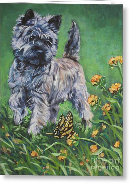 Cairn Terrier Greeting Card by Lee Ann Shepard