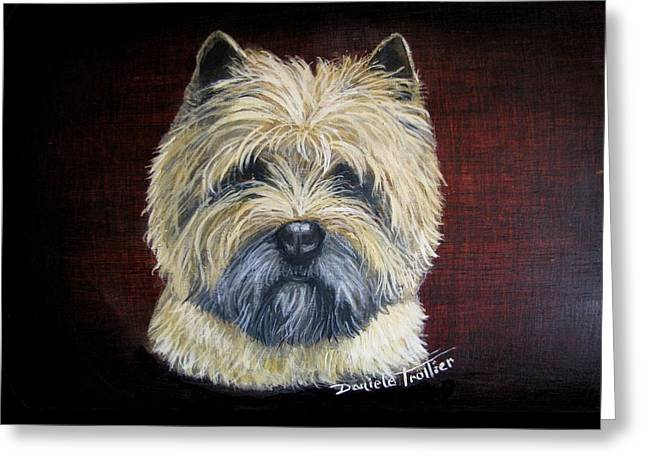 Cairn Terrier Love Greeting Card by Daniele Trottier