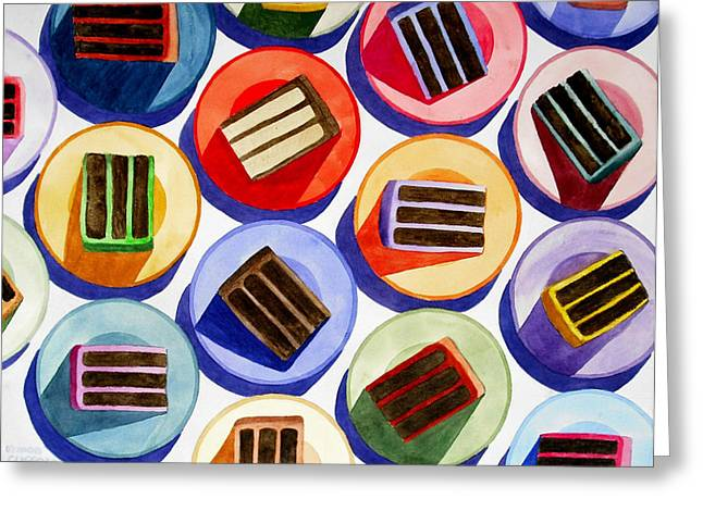 Cake For Everyone Greeting Card by Cory Clifford