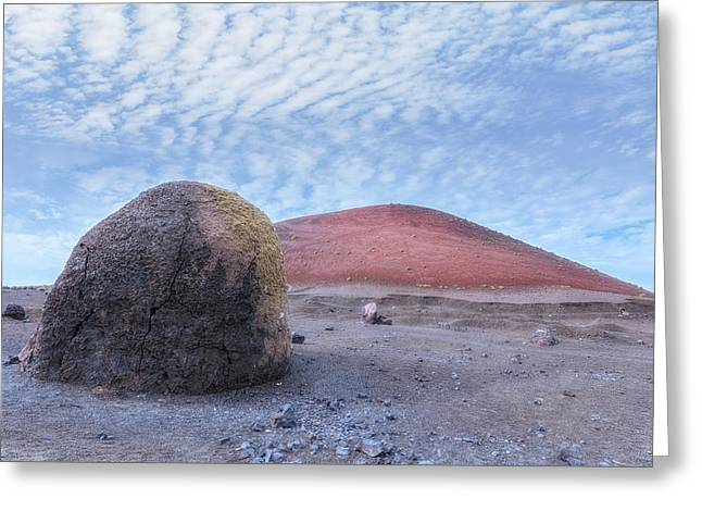 Caldera Colorada - Lanzarote Greeting Card by Joana Kruse