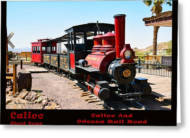 Calico And Odessa Rail Road Photo Greeting Card by Barbara Snyder
