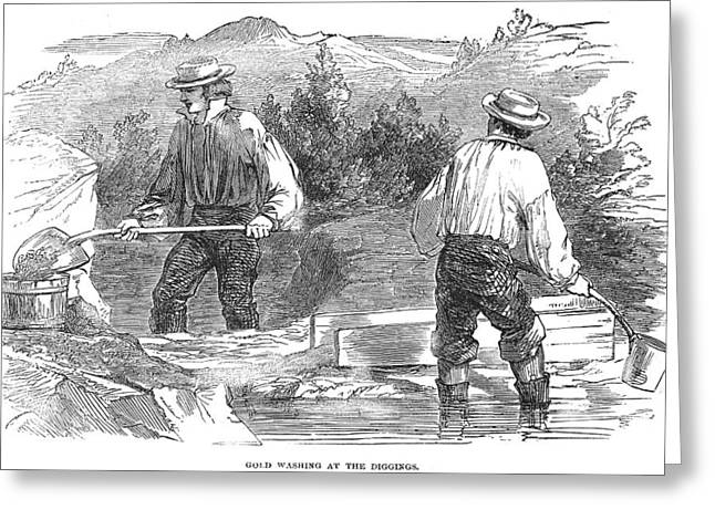Westward Expansion Greeting Cards - California Gold Rush, 1849 Greeting Card by Granger