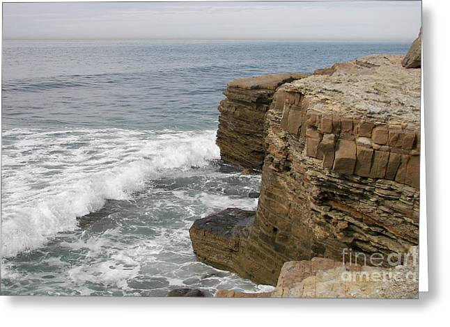 Greeting Card featuring the photograph California Seascape by Carol  Bradley