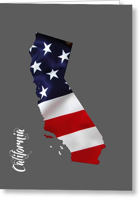 California State Map Collection Greeting Card