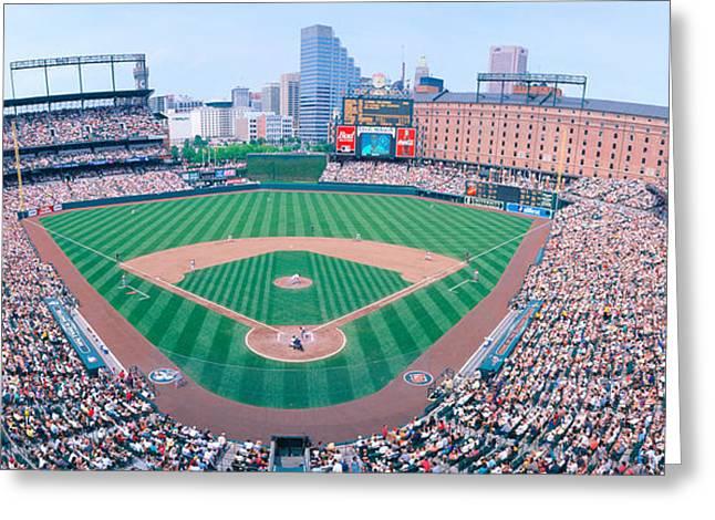 Camden Yard Stadium, Baltimore, Orioles Greeting Card by Panoramic Images