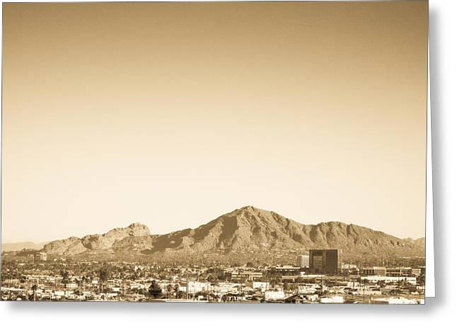 Camelback Mountain Greeting Cards - Camelback Mountain Greeting Card by Jennifer Nixon