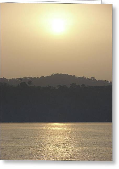 Cameroon Sunrise Africa Greeting Card