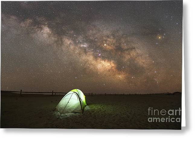 Camping Under The Stars  Greeting Card by Michael Ver Sprill