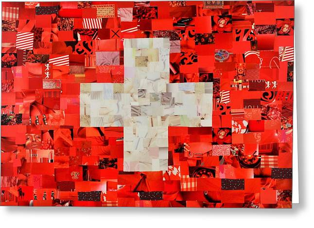 Swiss Flag Greeting Card