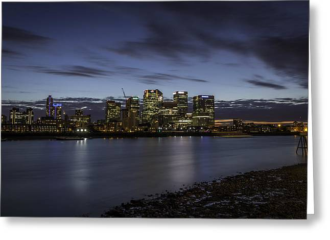 Greeting Card featuring the photograph Canary Wharf by Ryan Photography