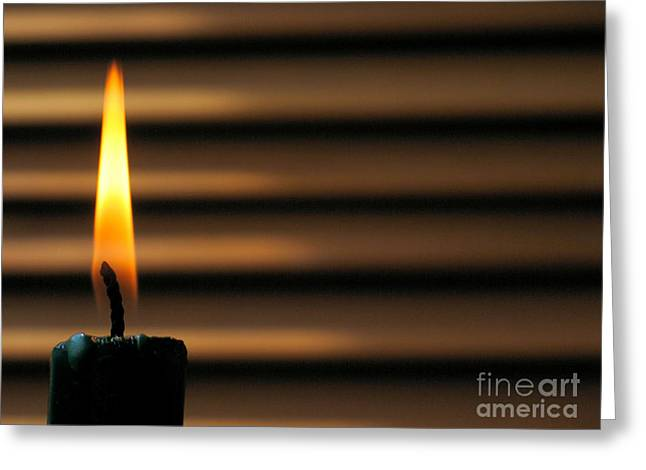 Candle Greeting Card by Odon Czintos