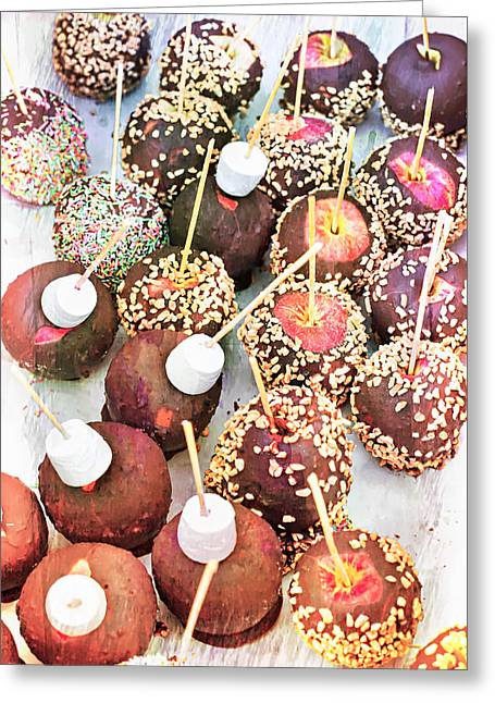 Candy Apples Greeting Card by Tom Gowanlock