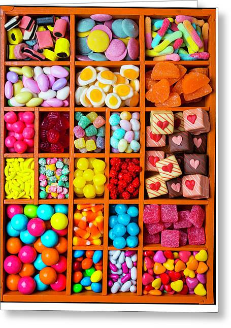 Candy In Compartments Greeting Card by Garry Gay