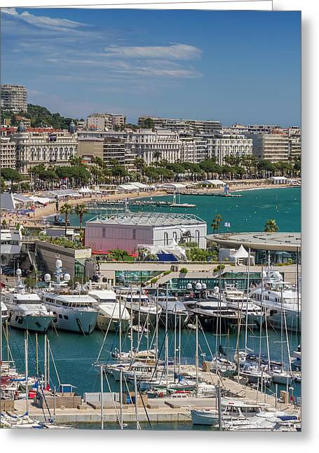 Cannes Croisette Greeting Card by Melanie Viola