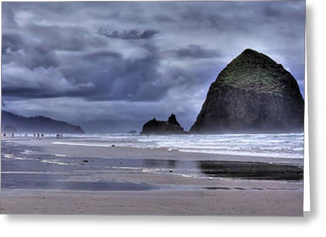 Cannon Beach Panorama Greeting Card