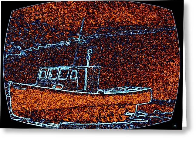 Cape Breton Fishing Boat Greeting Card by Will Borden