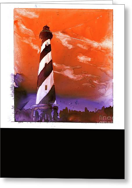 Greeting Card featuring the painting Cape Hatteras Lighthouse by Ryan Fox