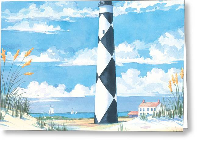 Cape Lookout Greeting Card by Paul Brent