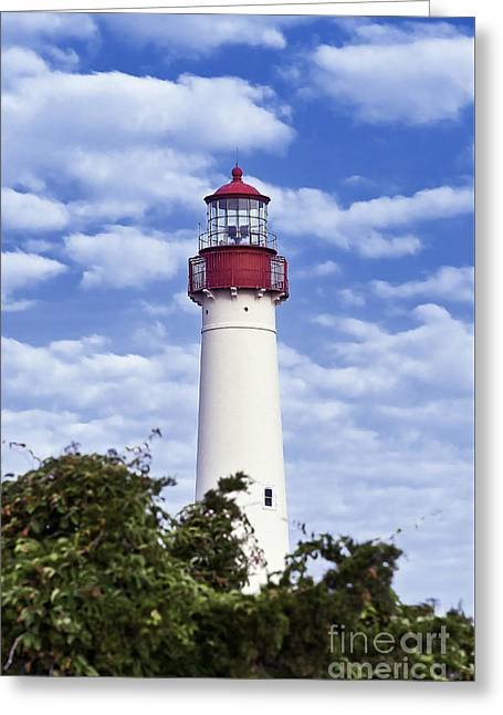 Cape May Lighthouse Greeting Card by John Greim