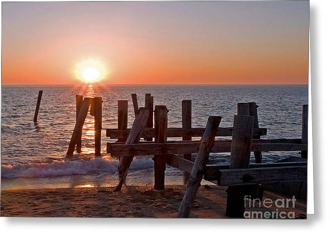 Cape May Sunset Greeting Card by Robert Pilkington