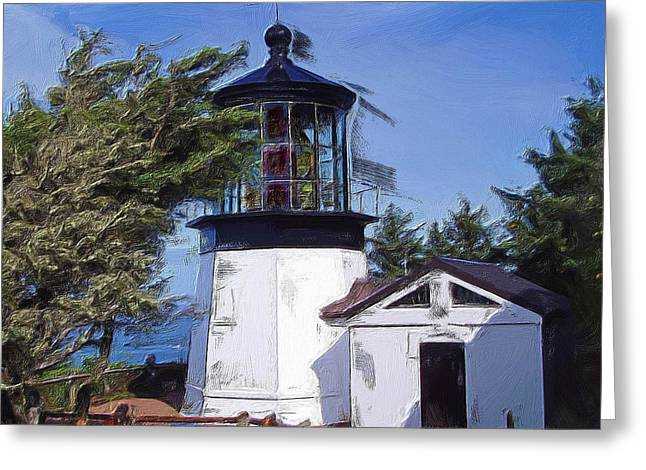 Cape Meares Lighthouse Greeting Card by Thom Zehrfeld
