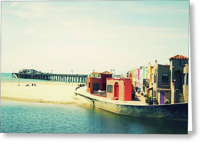 Capitola Venetian- Art By Linda Woods Greeting Card