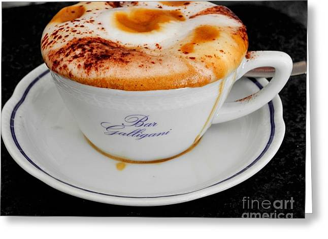 Cappuccino Artistry Greeting Card by George Tocquigny