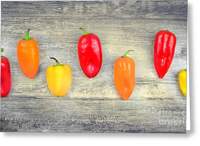 Capsicums Background  Greeting Card