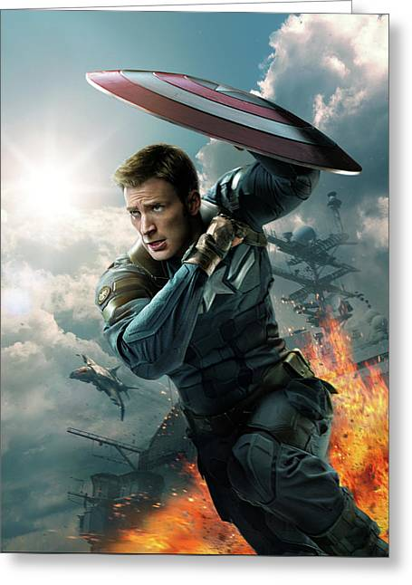 Captain America The First Avenger 2011 Greeting Card