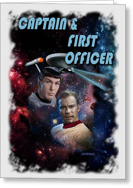 Captain And First Officer Greeting Card by Joseph Juvenal