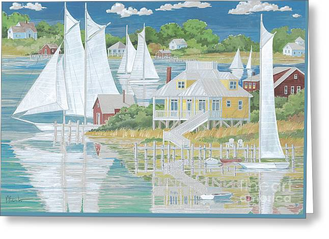 Captain's Home Greeting Card by Paul Brent