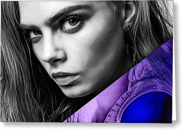 Cara Delevingne Collection Greeting Card