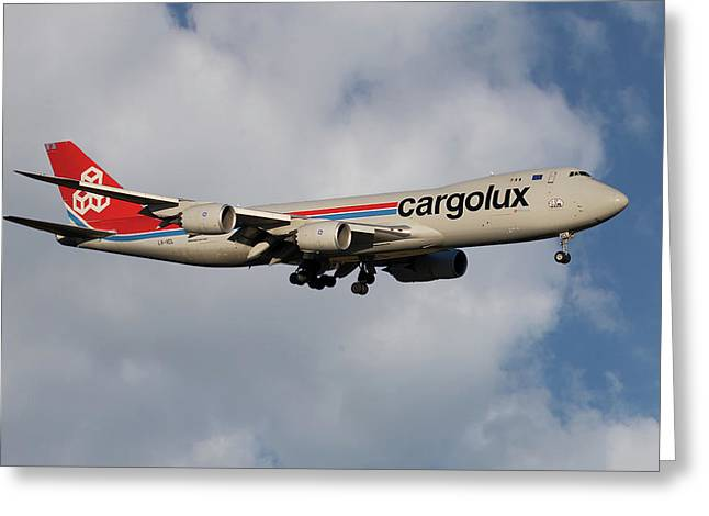 Cargolux Boeing 747-8r7 5 Greeting Card