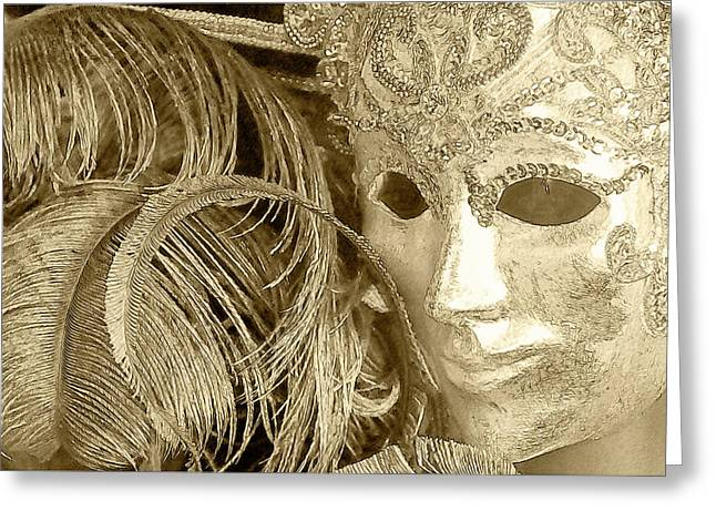Greeting Card featuring the photograph Carnival Mask by John Hix