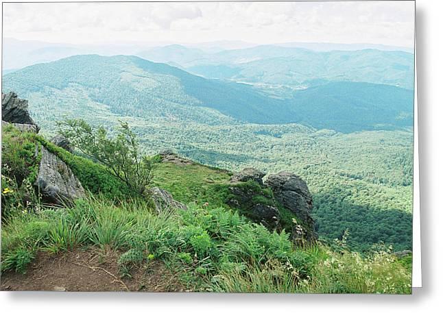 Carpatian Mountains Greeting Card by Anton Popov
