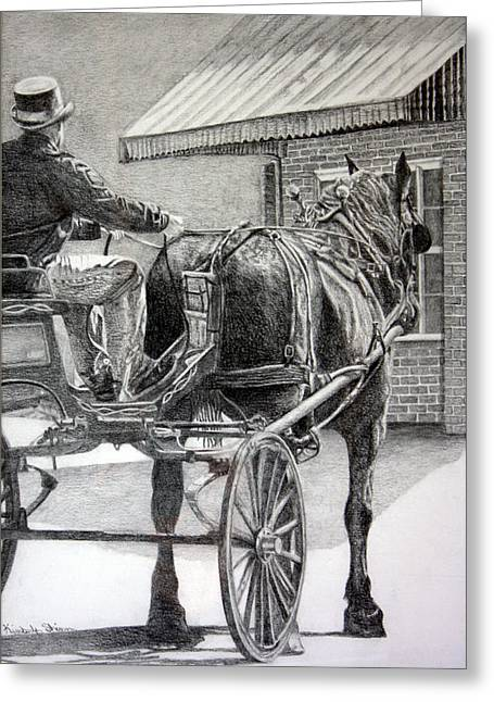 Carriage Rides Greeting Card by Kimberly Shinn
