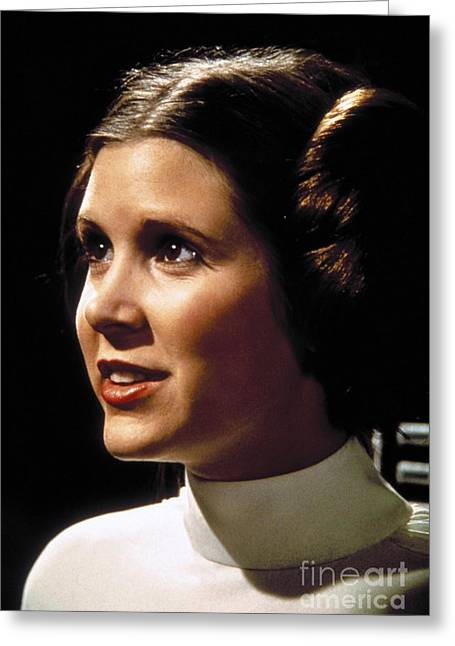 Carrie Fisher As Star Wars Character Princess Leia  Greeting Card by The Titanic Project
