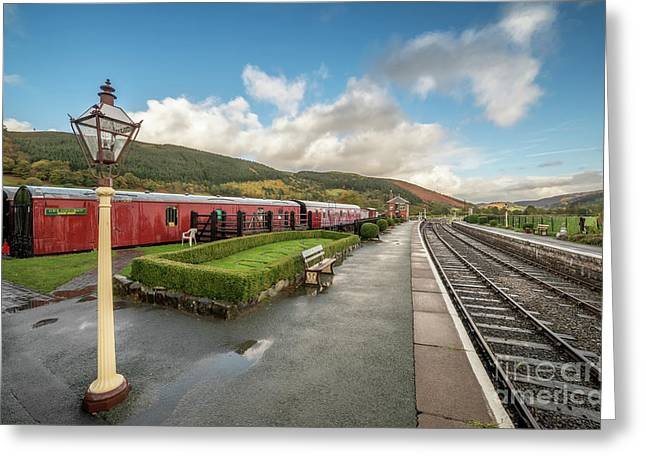 Carrog Railway Station Greeting Card by Adrian Evans