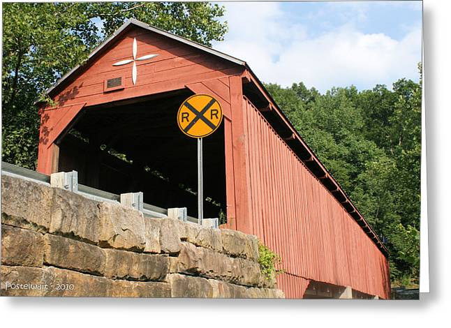 Carrollton Covered Bridge Greeting Card