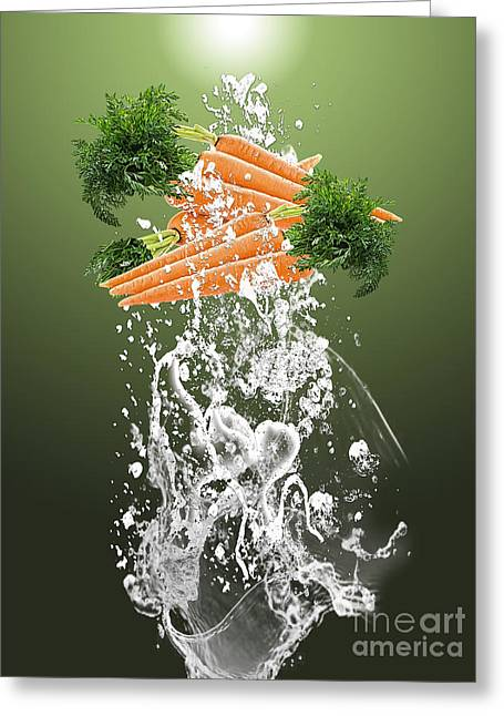 Carrot Splash Greeting Card