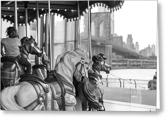 Carrousel Nyc Greeting Card
