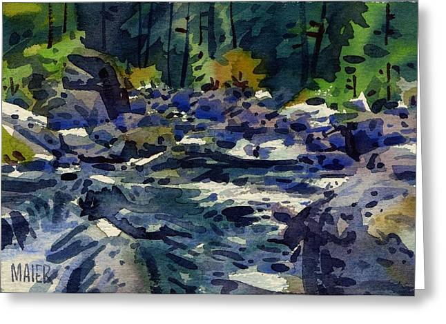 River Paintings Greeting Cards - Carson River Greeting Card by Donald Maier