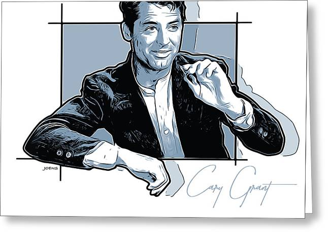 Cary Grant Greeting Card by Greg Joens
