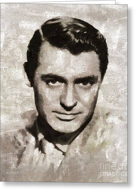 Cary Grant, Vintage Hollywood Actor Greeting Card