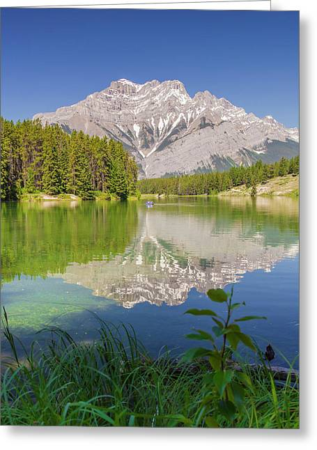 Greeting Card featuring the photograph Cascade Mountain by Mark Mille