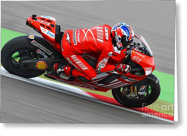 Casey Stoner Greeting Card by Henk Meijer Photography