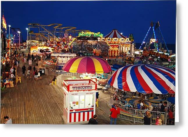 Casino Pier, Seaside Heights Greeting Card by Bob Cuthbert